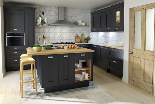 T and S Bespoke Kitchens MILBOURNE CHARCOAL